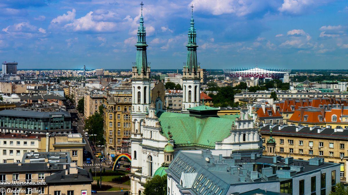 Panorama Warschau mit dem Nationalstadion
