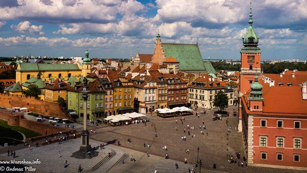 Warschauer Königsschloss und Schlossplatz