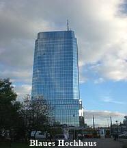 Blaue Hochhaus Bankenplatz